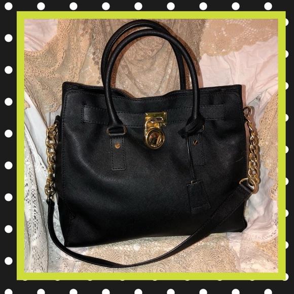 Michael Kors Hamilton Black Saffiano Leather USED.  M 5ae60141a6e3ead09896fee4 427e25ecc61a2